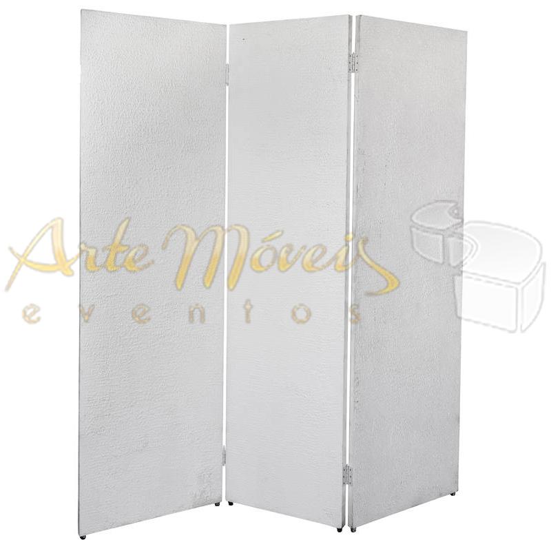 Biombo Branco Texturado ou forrado em Várias Cores 1,80 x 2,10 de Alt. 3 folhas