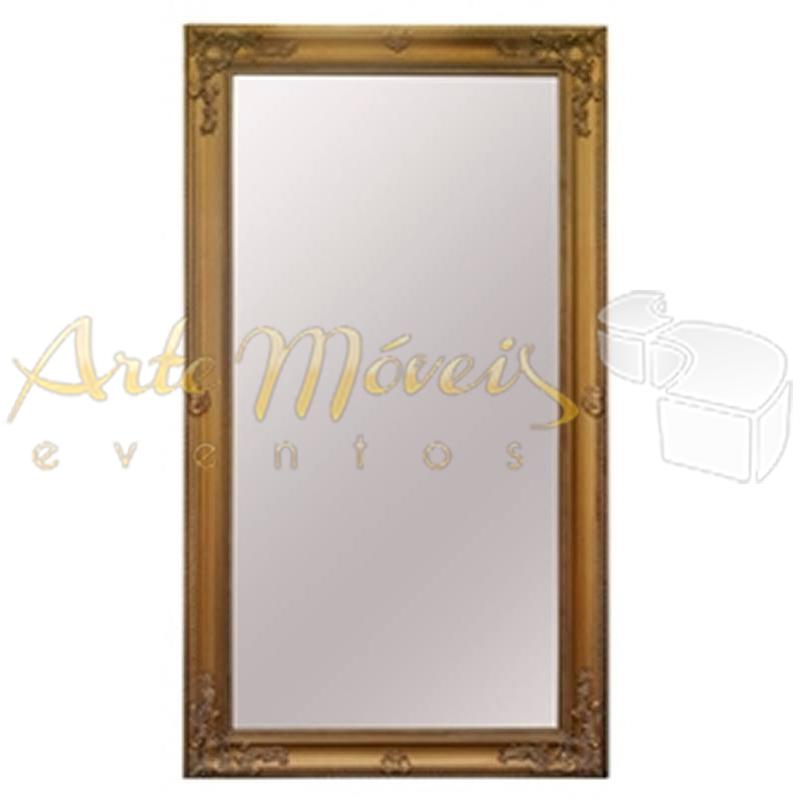 Espelho Imperial Dourado 1,10 x 2,20 de Alt.