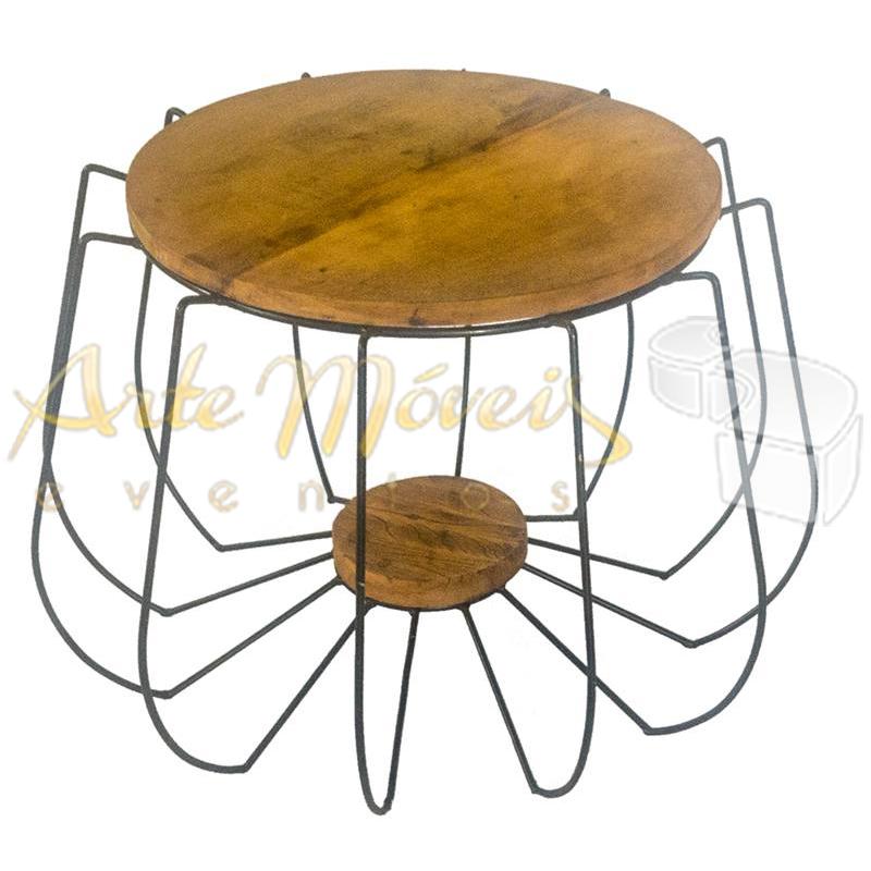 Mesa lateral redonda spider 0,45 x 0,40 de altura