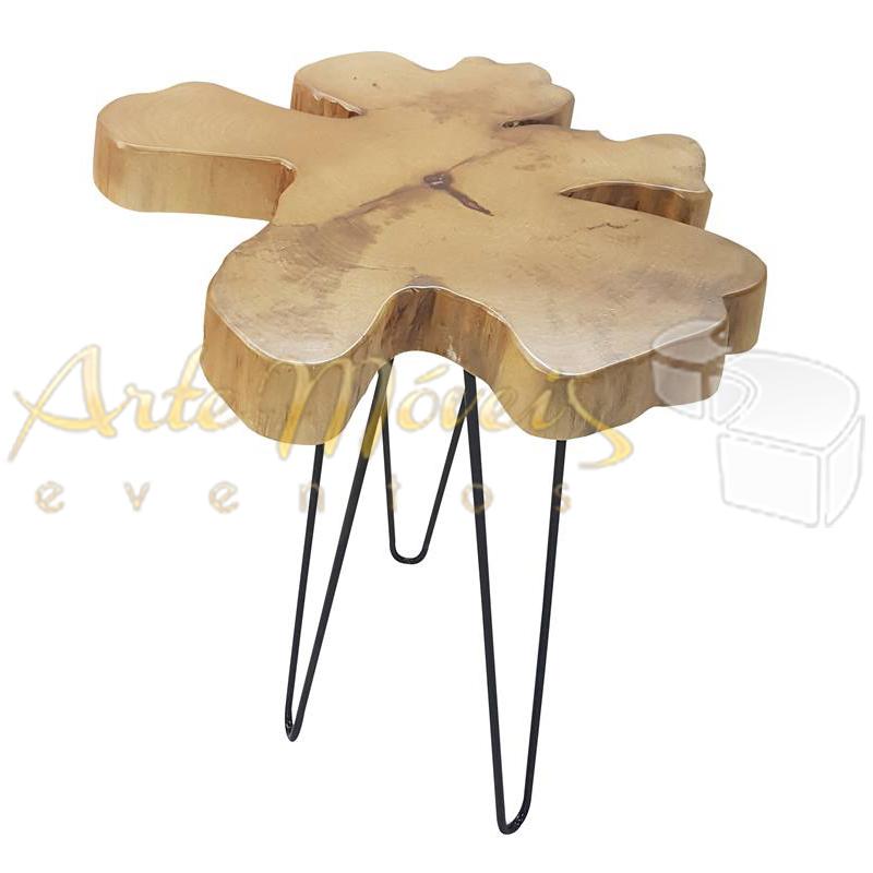 Mesa lateral tronco 0,35 x 0,45 de altura