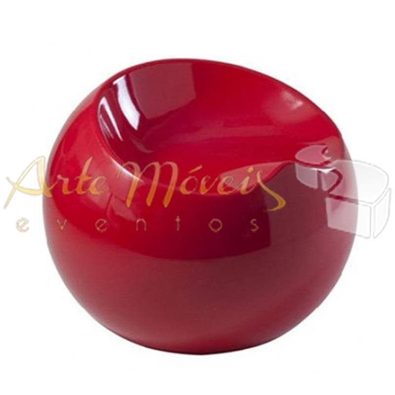 Puff bola vermelho ou outras cores