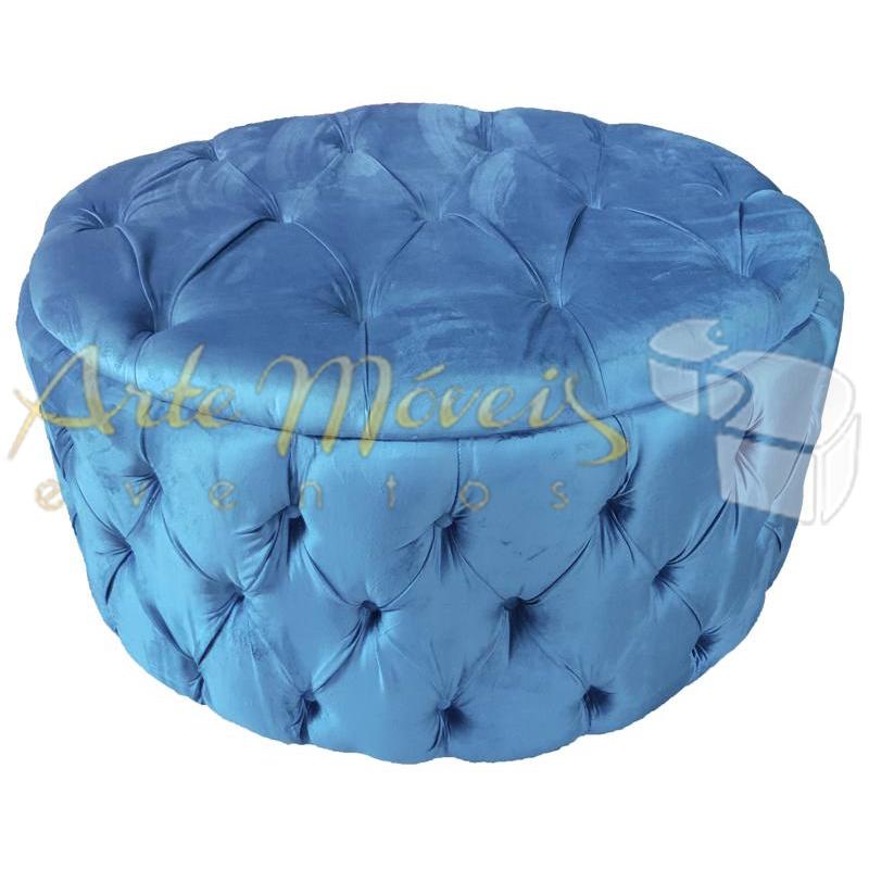 Pufe redondo captone sued azul 1,00 m