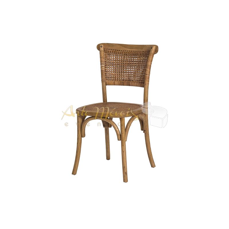 Cadeira Cross palha