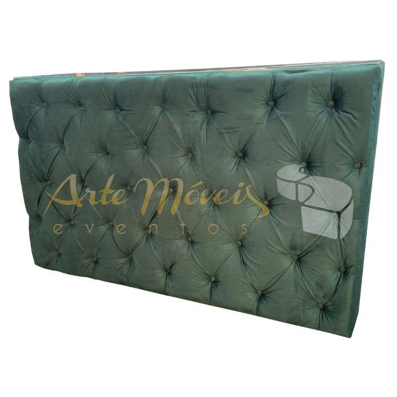 Bar Captone Verde Musgo 1,60 x 0,50 x 1,00 de altura com tampo de vidro