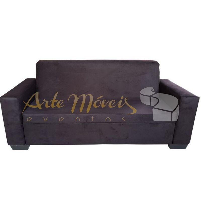 Sofá classic 2,00 x 0,80 preto em veludo