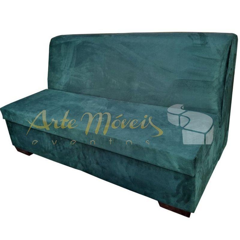 Sofá modulo 1,60 m x 0,80 verde em veludo