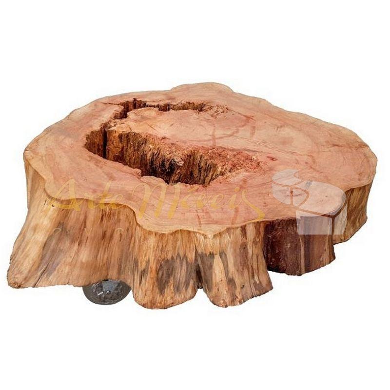 Mesa de centro tronco 2 peça única 0,70 de diametro aproximadamente